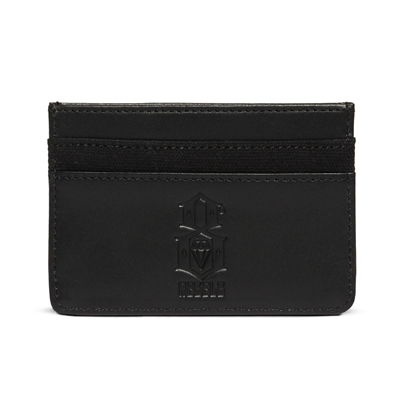 REBEL8 Leather Card Holder LOGO black