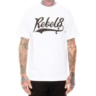 REBEL8 T-Shirt LEFTY white/black