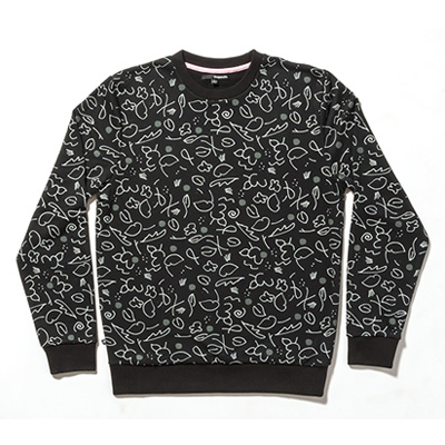 THE QUIET LIFE Sweater LILAC CREW black