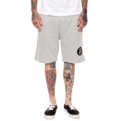 REBEL8 Sweat Shorts ROUND LOGO heather grey