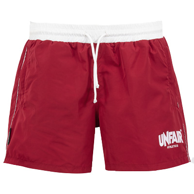 UNFAIR ATHLETICS Swim Shorts CLASSIC burgundy/white