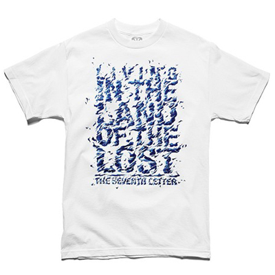 7TH LETTER T-Shirt LAND OF THE LOST white