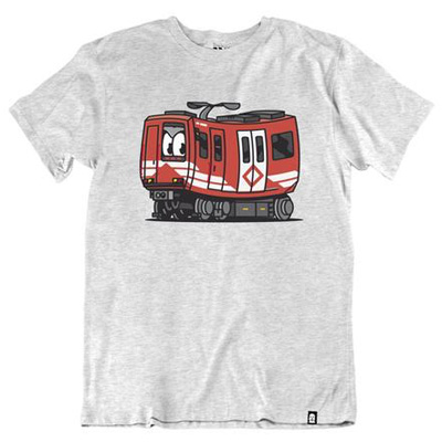 VANDALS ON HOLIDAYS T-Shirt MADRID METRO ash grey/red