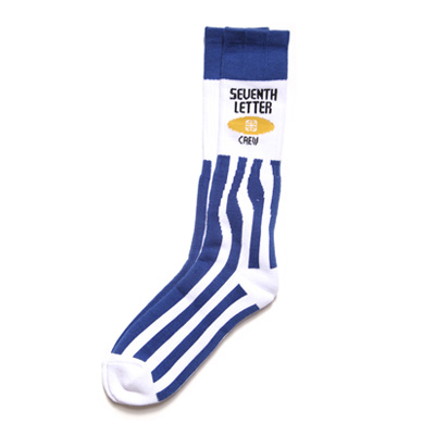 7TH LETTER Socken MARKER white/blue