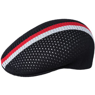KANGOL Flat Cap MESH STRIPE 504 black/red