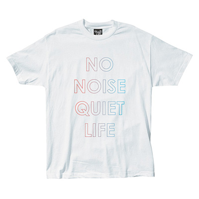 THE QUIET LIFE T-Shirt NO NOISE white