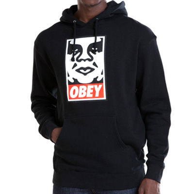 OBEY Hoody ICON FACE LOGO black