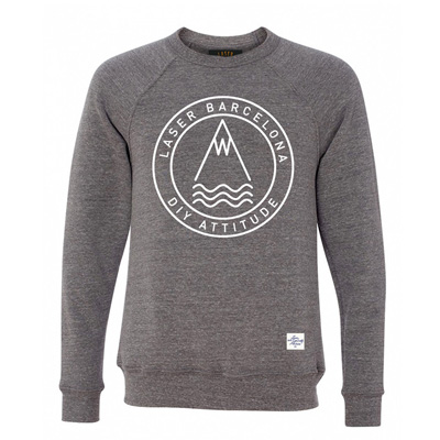 LASER Sweater OG DIY ROUND LOGO triblend grey