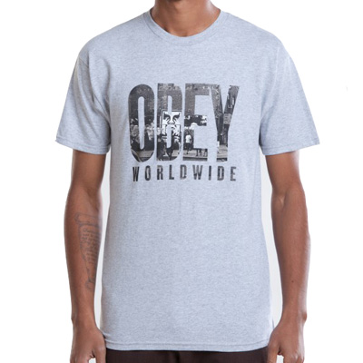 OBEY T-Shirt OG NY OBEY heather grey
