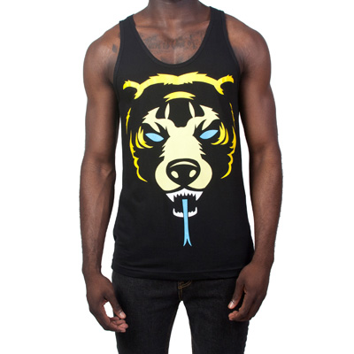MISHKA Tank Top OVERSIZED DEATH ADDER black