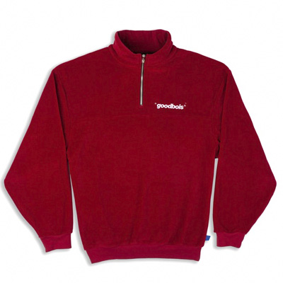 GOODBOIS Fleece Jacket OFFICIAL HALFZIP burgundy