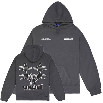 USUAL Hoody OUTLINE anthracite grey