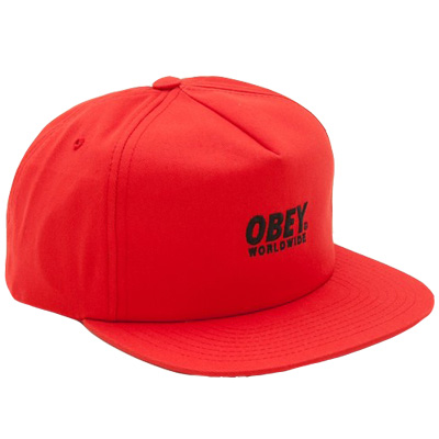 OBEY Snap Back Cap PORTLAND tint red