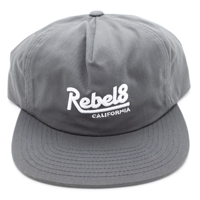 ed3ad1edc REBEL8 Snap Back Cap PREMIUM SCRIPT grey/white