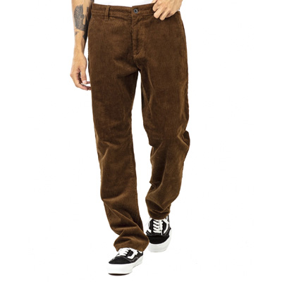 REELL Chino Pants REGULAR FLEX CHINO brown cord