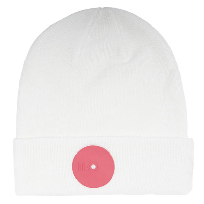 MR. SERIOUS Beanie PINK DOT FAT white/pink