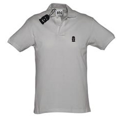 VANDALS ON HOLIDAYS Polo Shirt MASK grey/black
