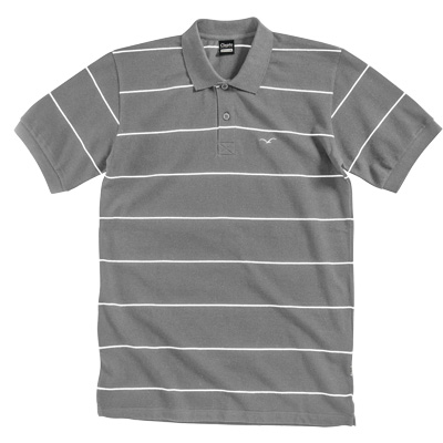 CLEPTOMANICX Polo Shirt STRIPE castlerock