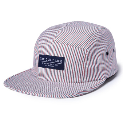THE QUIET LIFE 5Panel Cap POSTAL STRIPES white/blue/red