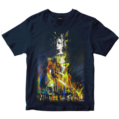 DEPHECT T-Shirt QUEEN OF COLOUR navy