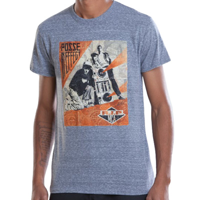 OBEY T-Shirt RIP MCA triblend heather grey
