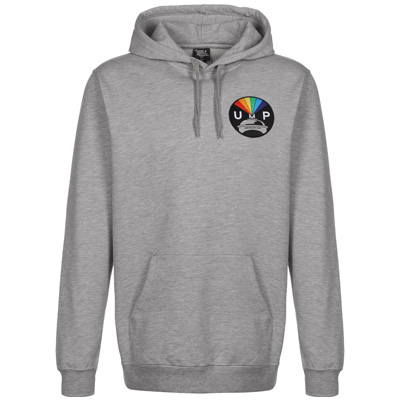 UNDERPRESSURE Hoody RAINBOW PATCH grey
