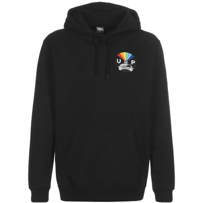 UNDERPRESSURE Hoody RAINBOW PATCH black