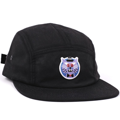 LASER 5Panel Cap HEDOF CAT black