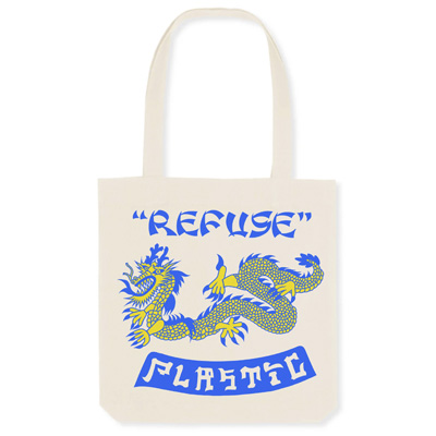 POLFISH Tote Bag REFUSE PLASTIC natural