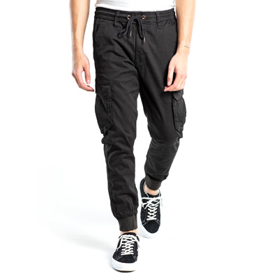 REELL Jogging Pants REFLEX RIB CARGO - Long black