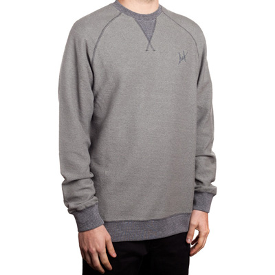 HUF Sweater FRENCH TERRY SCRIPT grey heather