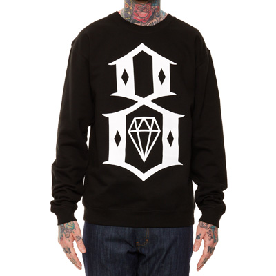 REBEL8 Sweater LOGO 8 black/white