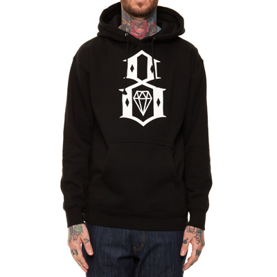 REBEL8 Hoody LOGO black/white