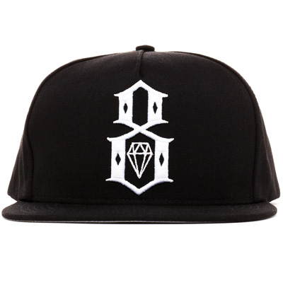 REBEL8 Snap Back Cap STANDARD LOGO black/white