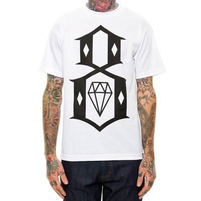 REBEL8 T-Shirt LOGO 8 white