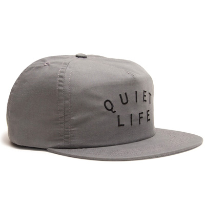 THE QUIET LIFE Snap Back Cap STANDARD LOGO grey