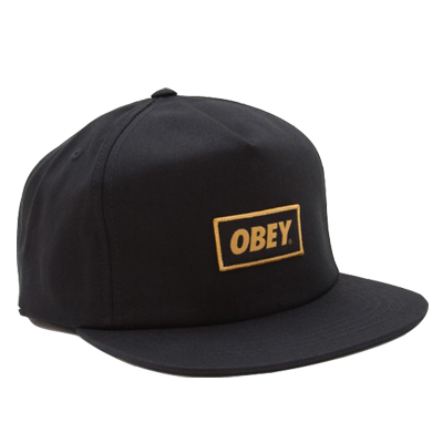 OBEY Snap Back Cap STOCK black