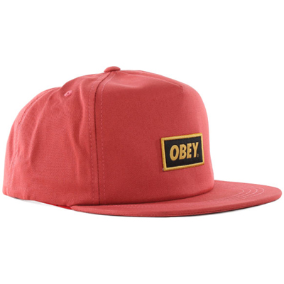 OBEY Snap Back Cap STOCK ketchup
