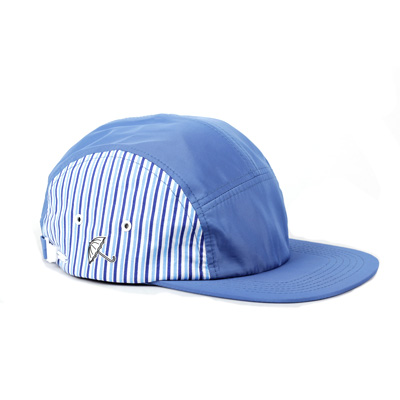 HELAS 5Panel Cap SUNDAY blue/blue striped
