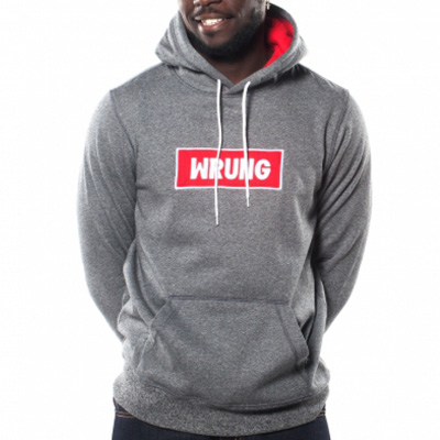 WRUNG Hoody NAME BOX heather grey