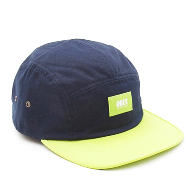 OBEY 5Panel Cap SMITH navy/acid green