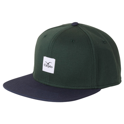 CLEPTOMANICX Snap Back Cap BADGER 3 bottle green/navy