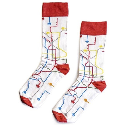 MONTANA COLORS Socks MTN METRO white