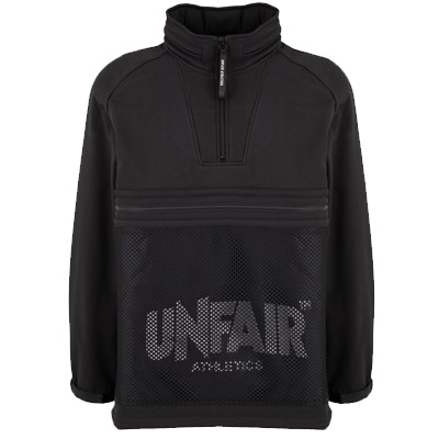 UNFAIR ATHLETICS Jacket SOFTSHELL HALFZIP black