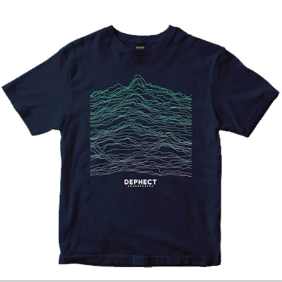 DEPHECT T-Shirt SOUNDSCAPES 2 navy