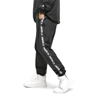 STARTER Sweatpants LOGO TAPED black