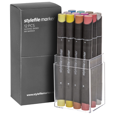 STYLEFILE Marker Set of 12 MULTI 31