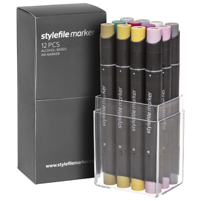 STYLEFILE Marker 12er Set MULTI 33