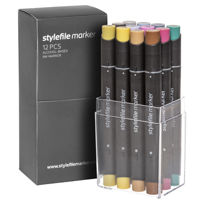 STYLEFILE Marker 12er Set MULTI 35