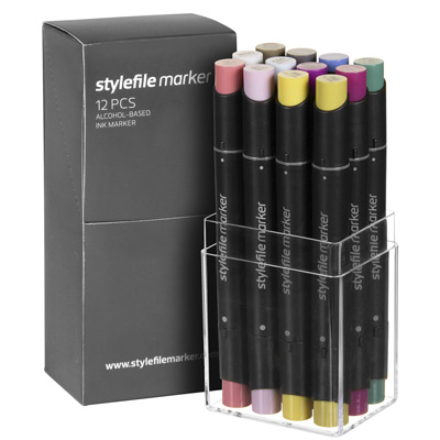 STYLEFILE Marker Set of 12 MULTI 26